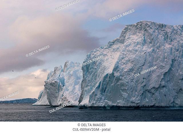 Icebergs at Ilulissat icefjord, Disko Bay, Greenland