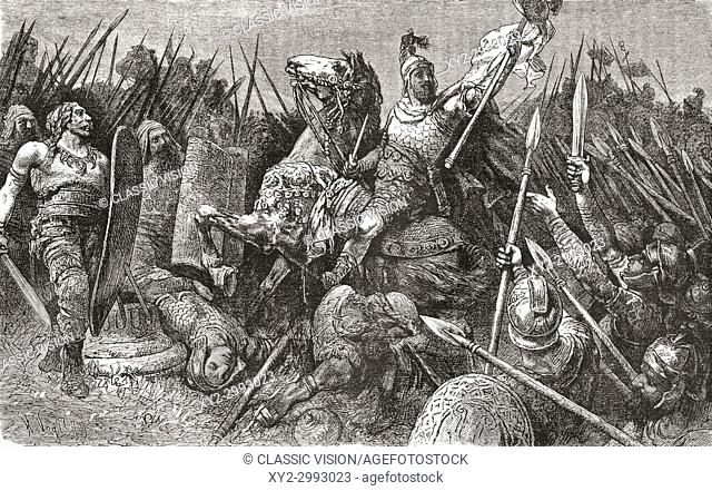 Belisarius leads the Roman army against the Goths, 540 AD. Flavius Belisarius, c. 505 - 565. General of the Byzantine Empire