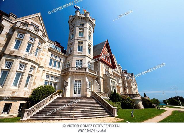 Stairs and tower in Magdalena Palace, Santander