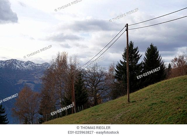 power line,wooden pole,wooden poles,low voltage,overhead line