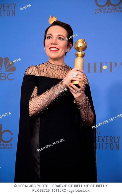 """After winning the category of BEST PERFORMANCE BY AN ACTRESS IN A MOTION PICTURE – COMEDY OR MUSICAL for her work in """"""""The Favourite"""