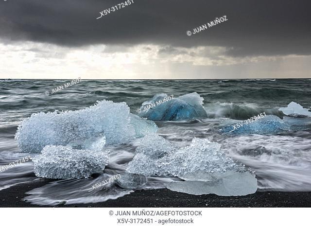 Diamond Beach.Jokulsarlon. Southern Region. Iceland