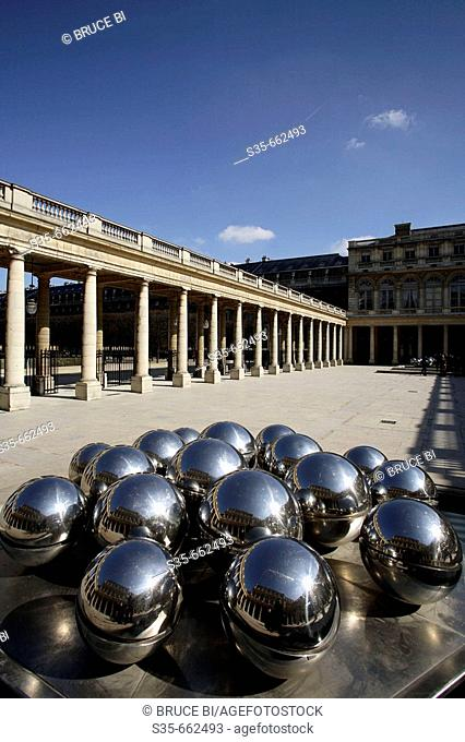 The courtyard of Palais Royal. Paris. France