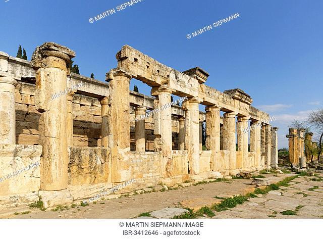 Latrines, ancient city of Hierapolis