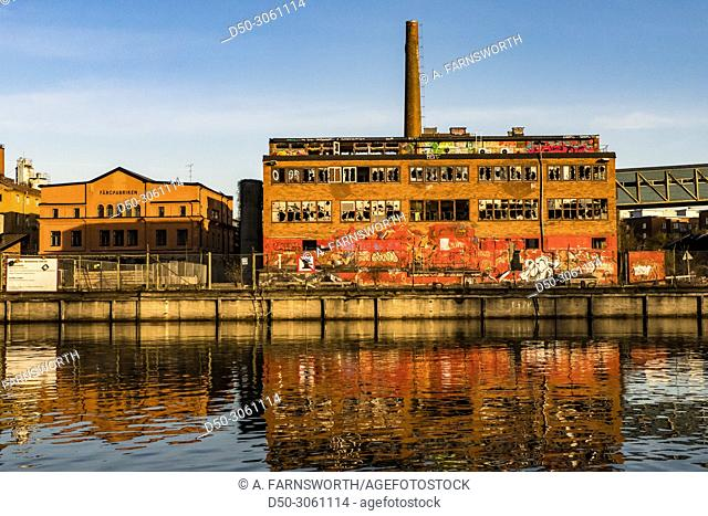Stockholm, Sweden Neighborhood of Liljeholmen and Grondal, an old industrial area known as Lovholmen and a contemporary art museum called Fargfabriken