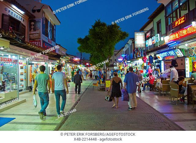 Saglic caddesi, shopping district, Kusadasi, Turkey, Asia Minor