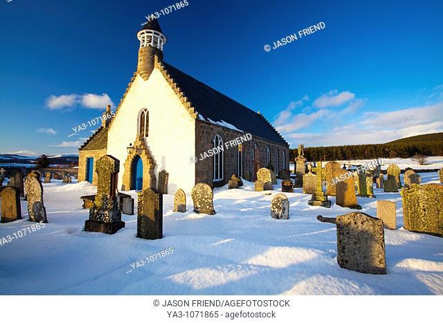 Scotland, Scottish Highlands, Cairngorms National Park  The Old Kirk at Nethy Bridge, part of the Abernethy Parish Church