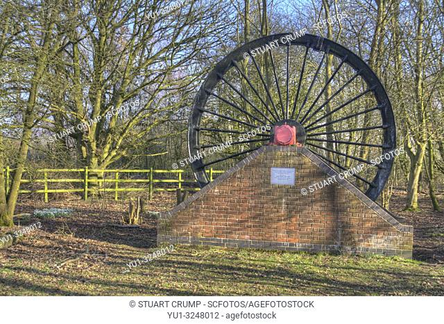 HDR image of the wheel at the Snibston No 3 Former Railway and Mine at the site of the Leicester to Swannington Railway and Swannington Incline
