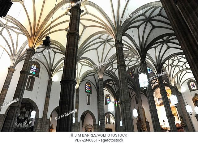 Catedral Basilica de Santa Ana, late gothic interior. Las Palmas de Gran Canaria, Canary Islands, Spain