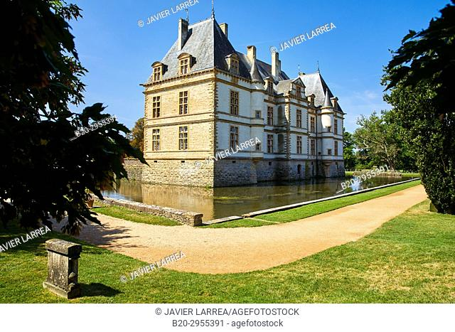 Castle of Cormatin, Saone-et-Loire Department, Burgundy Region, Maconnais Area, France, Europe