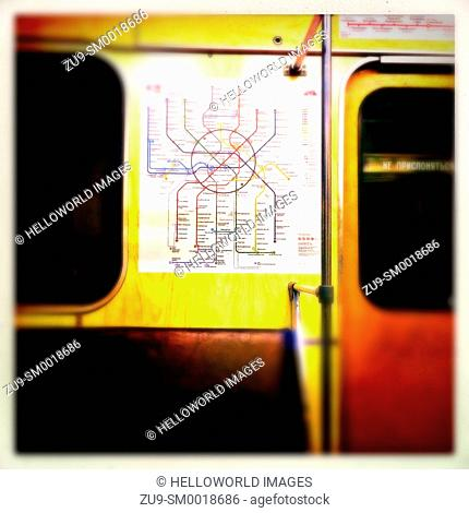 Moscow metro map blur, Russia