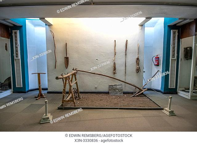 Early farming tools on display within the National Museum of Ethiopia, Addis Ababa, Ethiopia