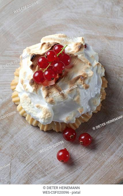 Tartlets with a meringue topping Stock Photos and Images