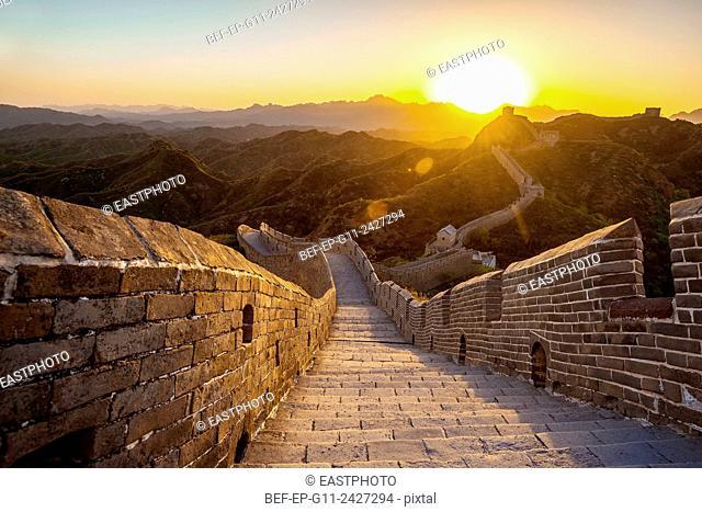 Beijing Great Wall sunset