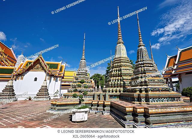 Pagodas of the Wat Pho Temple, Bangkok, Thailand
