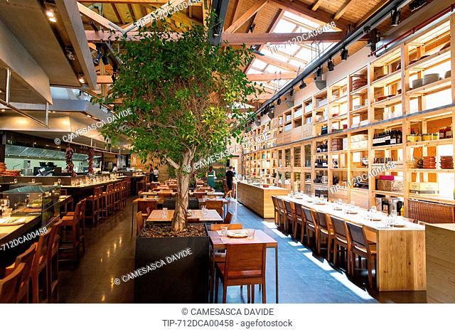 Spain, Catalonia, Barcelona, Santa Caterina market, The Cuines Santa Caterina gastronomic space