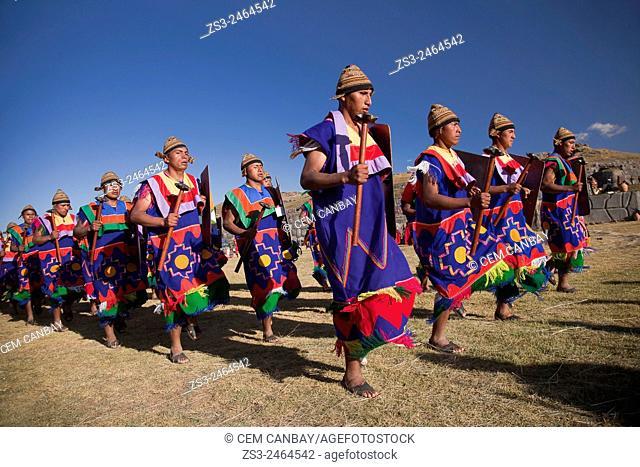 Scene from the Inti Raymi Festival at Saqsaywaman, Cuzco, Peru, South America