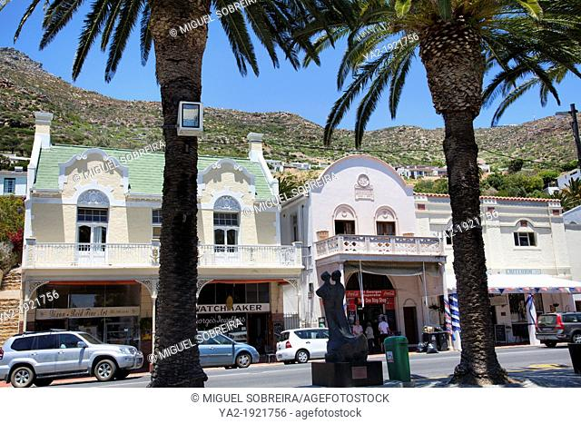 Simons Town Main Road in Western Cape - South Africa