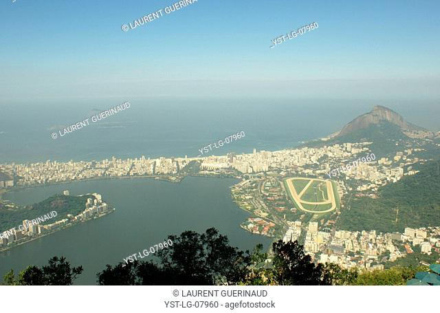 See aerial, City, Rio de Janeiro, Brazil