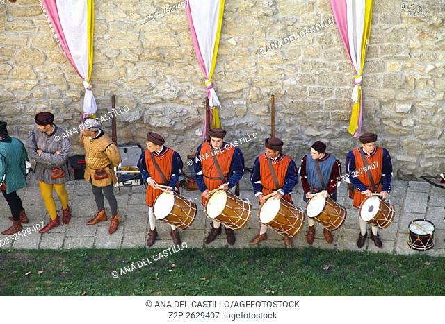 SAN MARINO-SEPTEMBER 7, 2014: Crossbow exhibition during medieval festivals on September 7, 2014 in San Marino