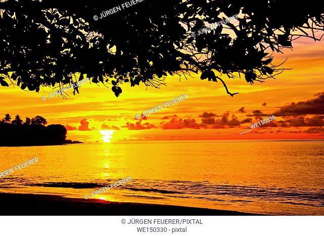 Sunset of the Seychelles, Island Mahé