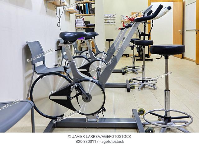 stationary bikes, Rehabilitation, Amara Berri Health Center building, Donostia, San Sebastian, Gipuzkoa, Basque Country, Spain
