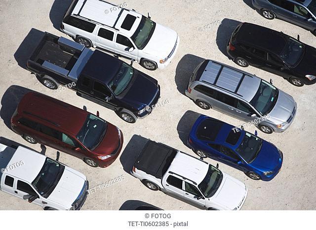 USA, Florida, Miami, Aerial view of car park