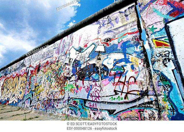 Berlin Wall with graffitis. Berlin. Germany