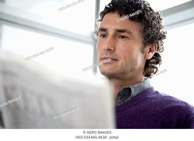 attractive businessman at work