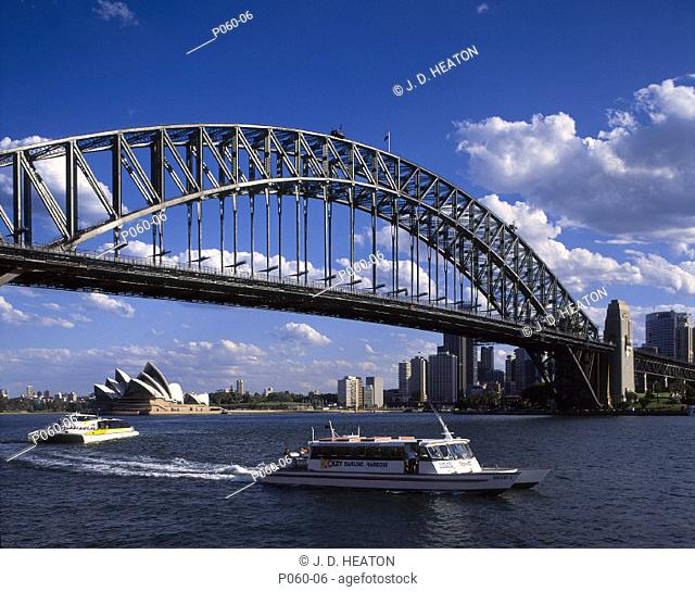Australia. Sydney. Opera house and harbour bridge