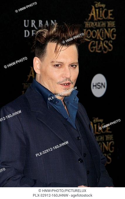 Johnny Depp 05/23/2016 The U.S. premiere of Alice Through the Looking Glass held at The El Capitan Theater in Hollywood, CA Photo by Izumi Hasegawa / HNW...