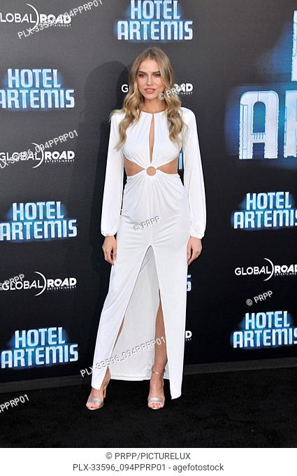"Tanya Mityushina at the """"Hotel Artemis"""" Los Angeles Premiere held at the Bruin Theater in Los Angeles, CA on Saturday, May 19, 2018"