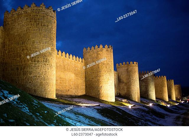 Mediaeval city walls, the best preserved ones in Spain. They date from 1090, with 2,5 km long, 88 towers and 6 gates. Ávila (city added to the Unesco's World...