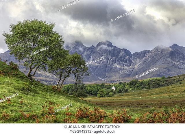 Black Cuillins, Strath Suardal, Isle of Skye, Scotland, United Kingdom