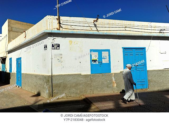 In the city center many streets still bear the name of Spanish colonial era . Sidi Ifni. Morocco .North Africa