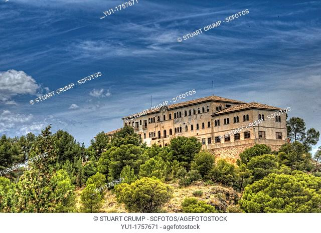 HDR of the Building on the hillside which is part of the La Fuensanta Sanctuary, Murcia, Spain