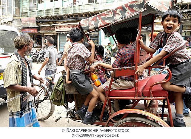 Street scene in Old Delhi, Delhi, Old Delhi, India