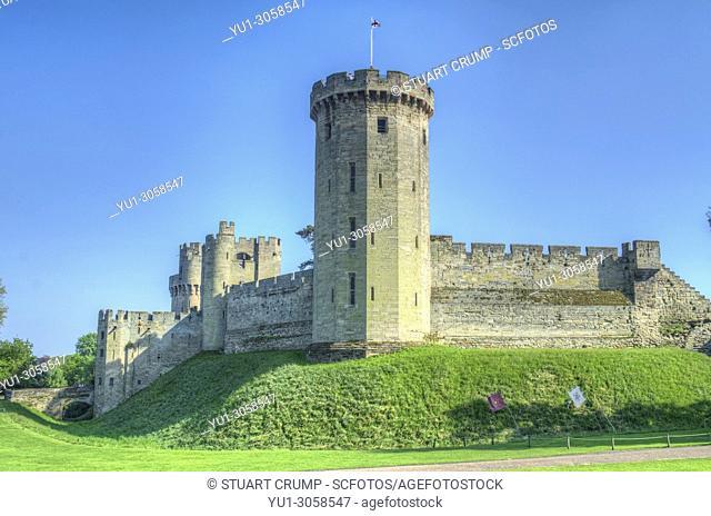 Towers & Ramparts of Warwick Castle at Warwick Castle, Warwickshire, England