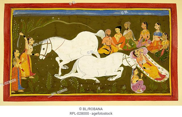 Horse sacrifice, Queen Kaushayla performs the rite of sacrificing the horse. She then spends the night next to the body of the horse as is the custom