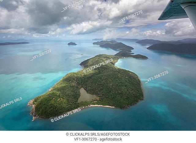 Whitsunday Islands, Queensland, Australia. Aerial View