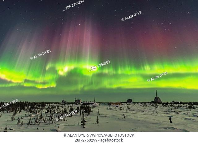A superb display of aurora borealis seen on March 14, 2016 when it reached Level 5 storm levels. This was as the major substorm hit and the curtains to the...