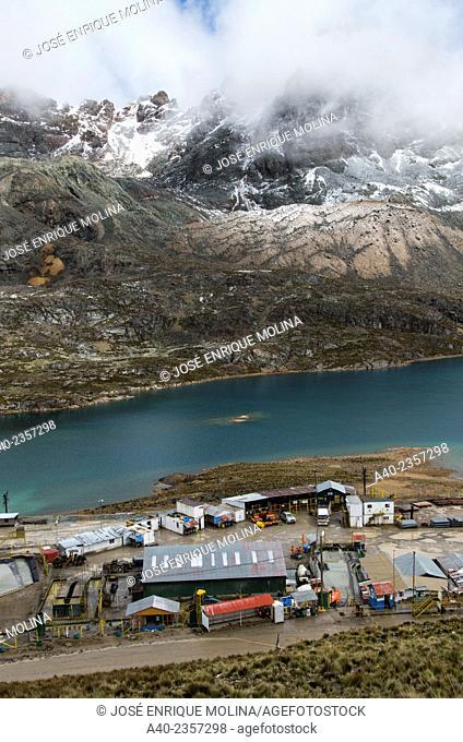 Ticlio mine zinc, lead, silver .Andes mountains. Junin department. Perú