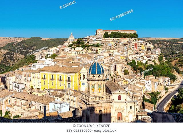 The beautiful baroque town of Ragusa Ibla in Sicily, Italy