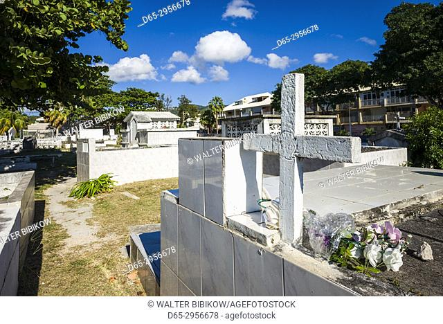 French West Indies, St-Martin, Marigot, traditional above ground cemetery