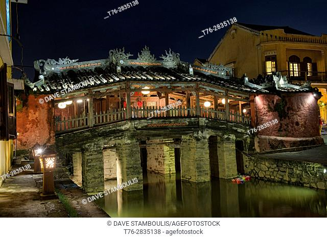The iconic Japanese Covered Bridge, Hoi An, Vietnam
