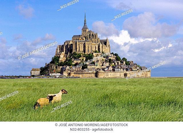Mont-Saint-Michel Benedictine abbey  Normandy  France