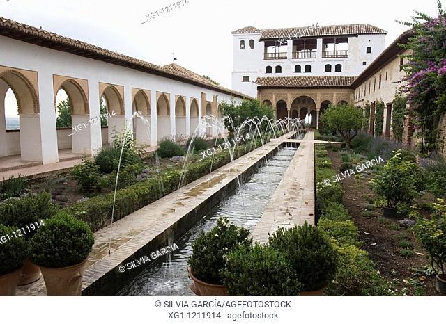 Generalife Gardens, ALHAMBRA, GRANADA, ANDALUCIA, SPAIN