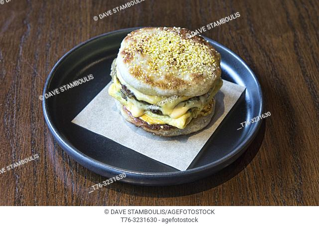 Egg McMuffin at a restaurant in Bangkok, Thailand