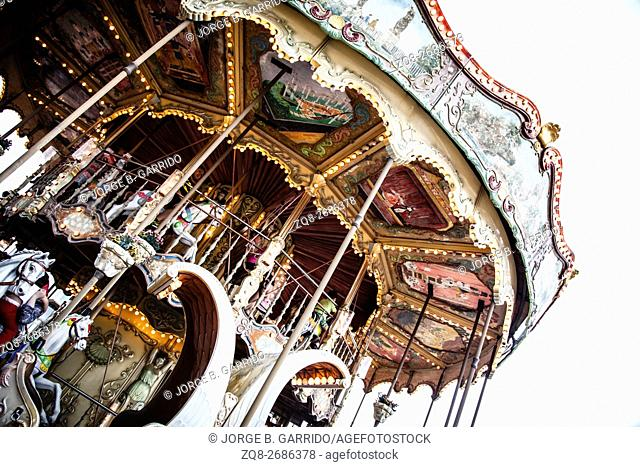 Carrousel at Tibidabo Amusement Park