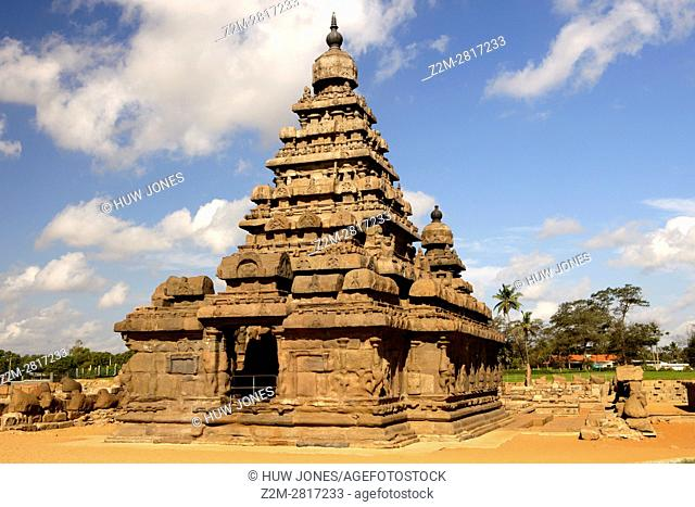 The Shore Temple, Mahabalipuram, UNESCO World Heritage Site, Near Chennai, Tamil Nadu state, India, Asia